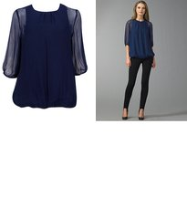 Get the look for less: Chiffon bubble blouse