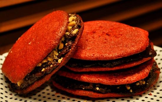 Dark Chocolate and Red Velvet Make a Scrumptious Sandwich