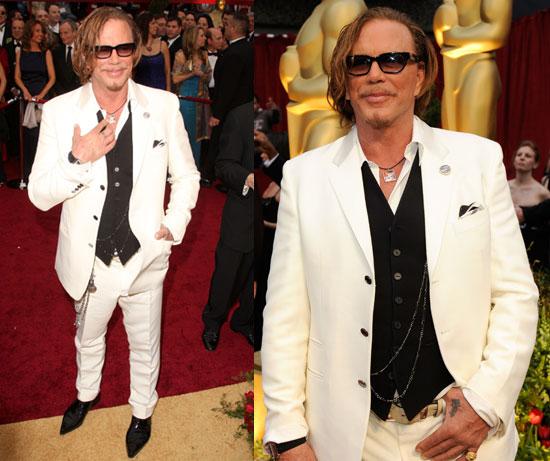 Oscars Red Carpet: Mickey Rourke