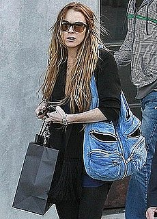 Photo of Lindsay Lohan Shopping In LA With Alexander Wang Bag