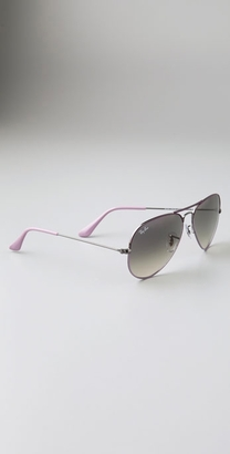 Fabworthy: Purple Ray-Ban Aviators