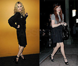 Madonna and Ashlee Simpson Wear Chanel Gun Heels