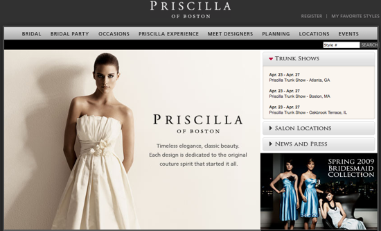 Let PriscillaofBoston.com Be Your Wedding Planning Guide . . .