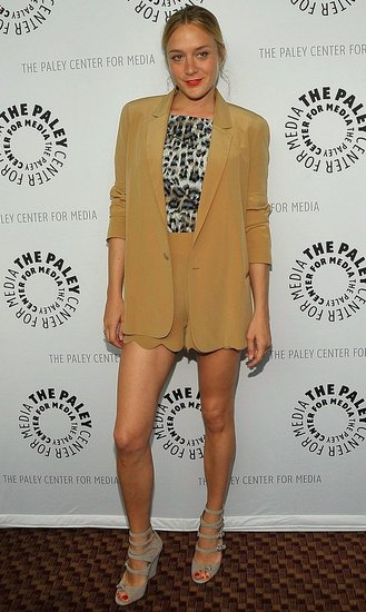 Big Love Actress Chloe Sevigny Attends PaleyFest09 in Camel Chloe Shorts and Blazer