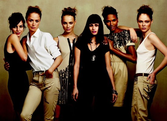Gap Design Editions Summer '09 Ad Campaign Featuring Raquel Zimmerman, Anna Jagodzinska, Arlenis Sosa, and Coco Rocha