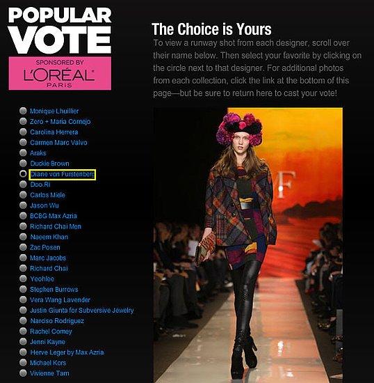 CFDA Announces Popular Vote Award