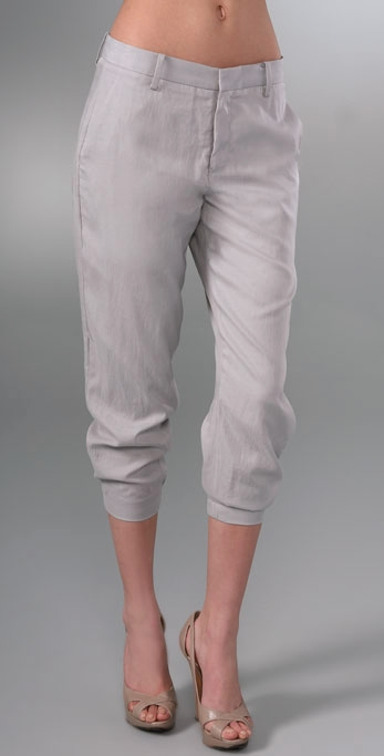 Helmut Lang Draped Cropped Pants