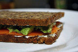 Recipe For Smoked Salmon Sandwiches With Avocado and Wasabi Cream Cheese