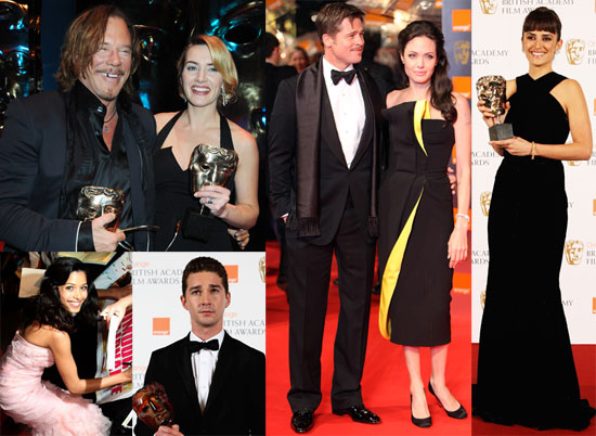 Photos of Angelina Jolie, Brad Pitt, Penelope Cruz, Kate Winslet, Meryl Streep at the 2009 BAFTAs