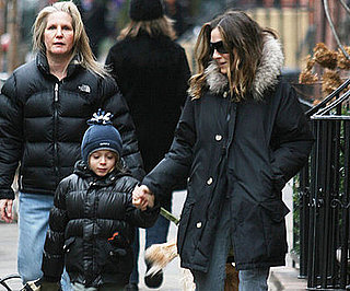 Photo of Sarah Jessica Parker and James Wilkie Broderick on Their Way to School
