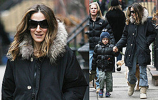 Photos of Sarah Jessica Parker and James Wilkie Broderick in NYC