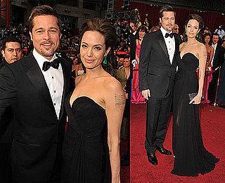 Photos of Angelina Jolie and Brad Pitt at the 2009 Oscars