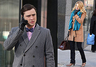 Photos of Ed Westwick and Blake Lively Filming in NYC