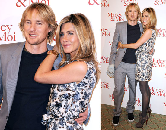 Photos of Jennifer Aniston and Owen Wilson at Marley & Me Photo Call in Paris