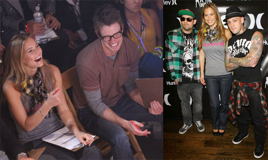 Photos of Bar Refaeli, Joel Madden, Benji Madden, Robert Buckley at Hurley's Walk the Walk Competition