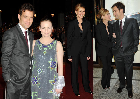 Photos of Clive Owen, Julia Roberts, Sarah-Jane Fenton at the London Premiere of Duplicity