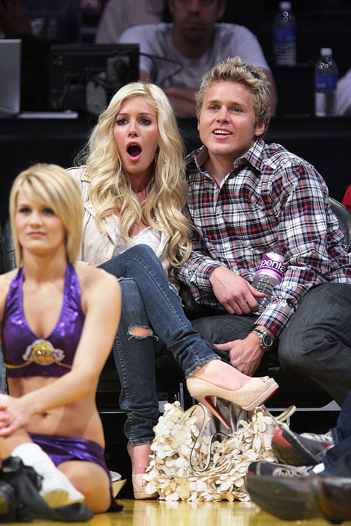 Heidi and Spencer at Lakers
