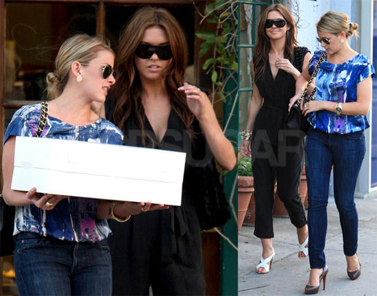 Photos of Lo Bosworth and Audrina Patridge Filming the Hills in LA