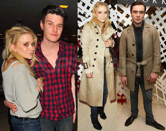 Photos of Ed Westwick, Mary-Kate Olsen, Her Boyfriend Nate Lowman at a Cocktail Party For Christopher Bailey
