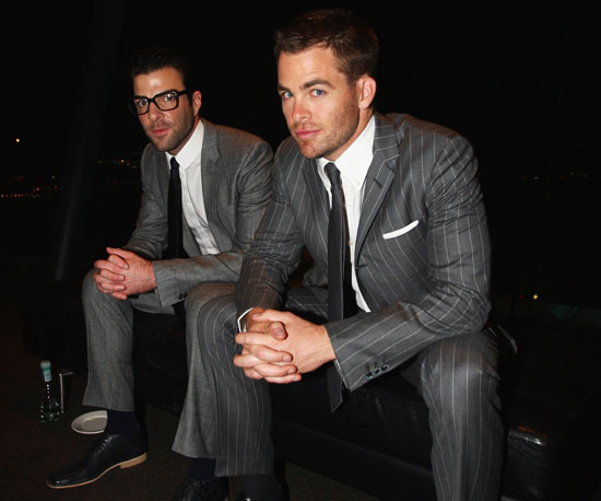 Photo of Zachary Quinto and Chris Pine at the New Zealand Premiere of Star Trek