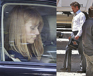 Robert Downey Jr. On Set of Iron Man 2