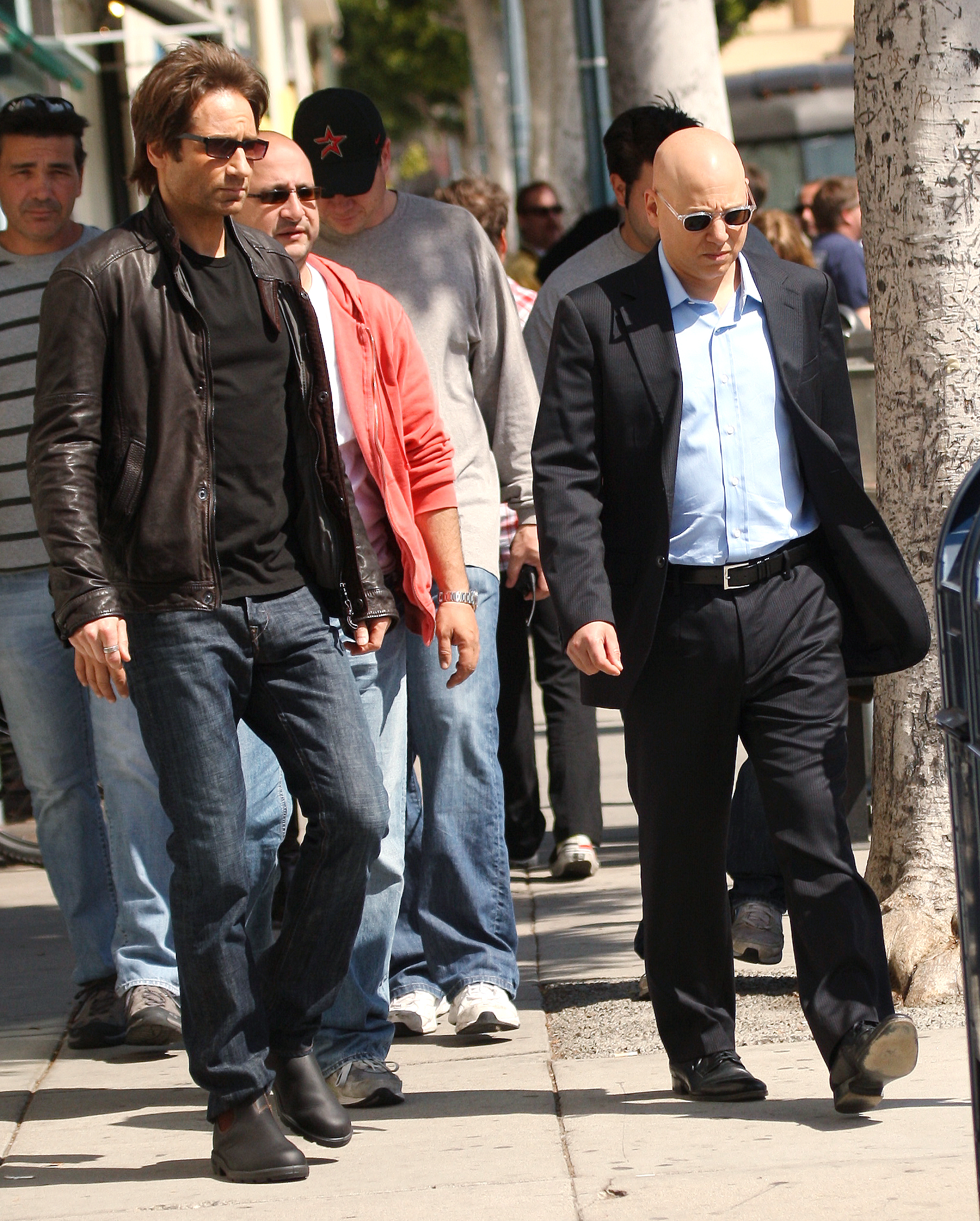 Photo of Evan Handler & his friend actor  David Duchovny - Cast of Californication