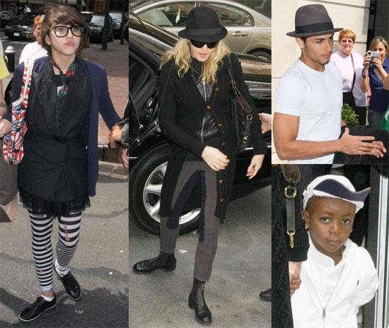 Photos of Madonna, Jesus Luz, Rocco Ritchie, Lourdes Leon, David Ritchie at Kabbalah in NYC, Adoption Appeal Set