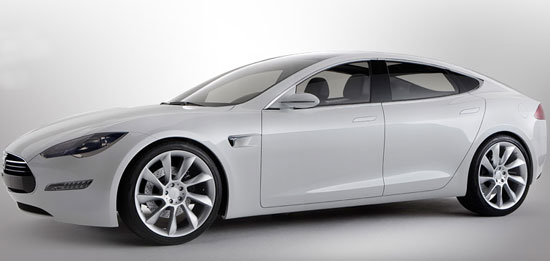 David Letterman Interviews CEO of Tesla and Brings the S Model on His Show