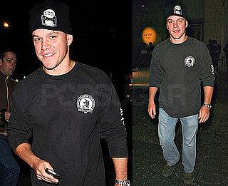 Photos of Matt Damon Leaving Nobu in London