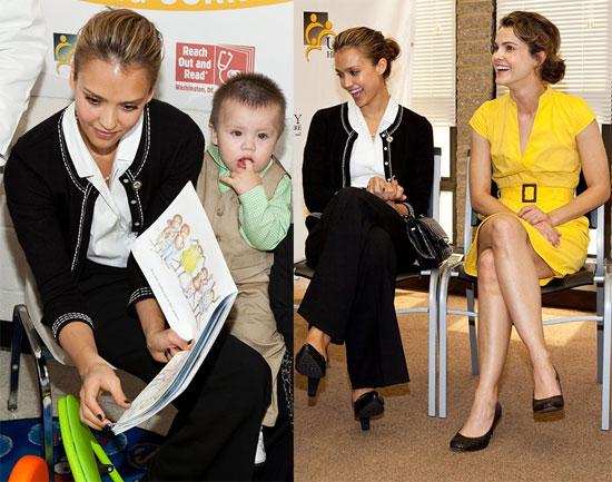 Jessica and Keri Read to Children