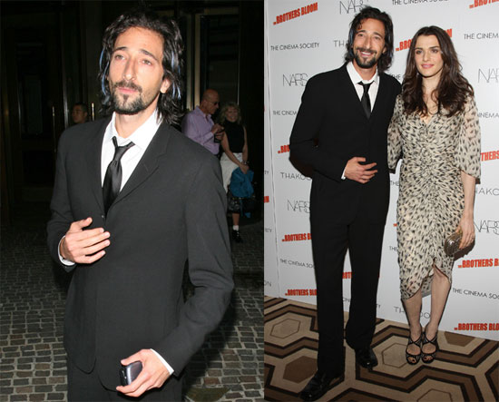 Photos of Adrien Brody and Rachel Weisz at a Screening of The Brothers Bloom at the Tribeca Film Festival