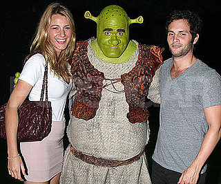 Photo Slide of Blake Lively and Penn Badgley with Shrek