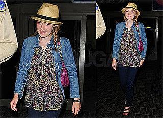 Photos of Dakota Fanning at LAX