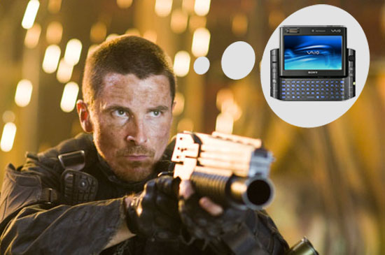 John Connor Uses a Sony Vaio UX UMPC in Terminator Salvation