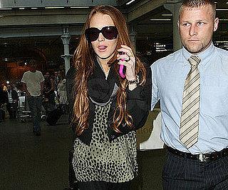 Photo Slide of Lindsay Lohan Arriving in London