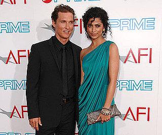 Photo Slide of Matthew McConaughey and Camila Alves Celebrating Michael Douglas's AFI Lifetime Achievement Award