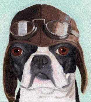 Boston Terrier Prints from Etsy