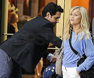 Slide Photo of Reese Witherspoon and Paul Rudd Filming How Do You Know? Together in DC