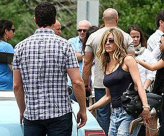 Photo Slide of Jennifer Aniston and Gerard Butler on the NJ Set of The Bounty Hunter