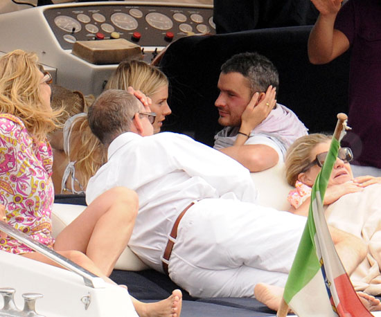 Photo Slide of Sienna Miller and Balthazar Getty Getting Cozy in Italy