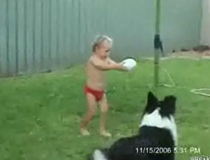 Cute Alert: Child Cannot Figure Out How to Kick a Ball