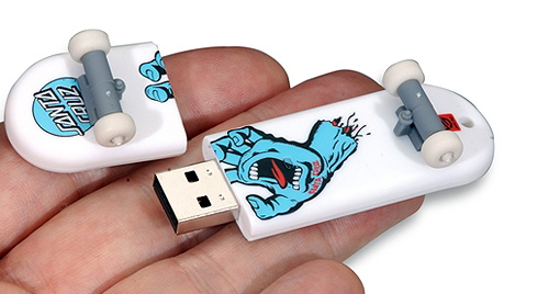 Grind It! Skateboard Shaped Flash Drive