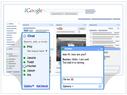 Use Chat Right Inside iGoogle