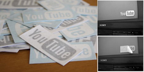 Cover Your Television With YouTube Stickers