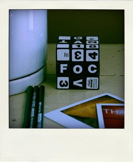 Rubik's Cube Perpetual Desk Calendar From Etsy