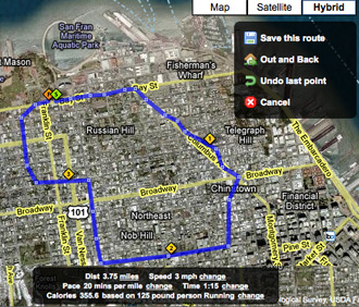 Make Running Routes on Your Computer or iPhone With Walk Jog Run
