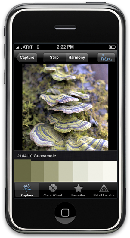 Benjamin moore launches color paint matching iphone app for Paint color matching app