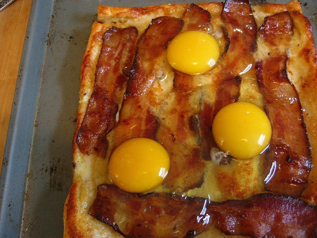 Bacon And Egg Breakfast Tart