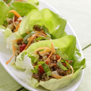 Fast & Easy Recipe for Five Spice Turkey Lettuce Wraps