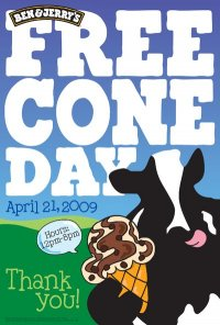 April 21, 2009: Free Cone Day at Ben & Jerry's